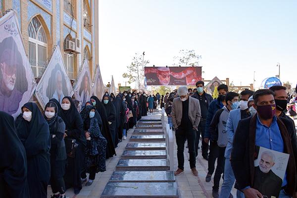 گلزار شهدای کرمان در سالروز شهادت سردار دل ها
