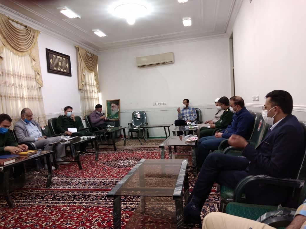 برگزاری جلسه قرارگاه امام حسن مجتبی (ع) در محل دفتر امام جمعه در راستای اجرای مرحله دوم کمک مومنانه