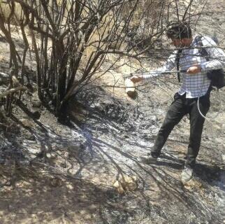 آتش سوزی در بیش از  ۱۵  هکتار  مراتع بخش کوهساران